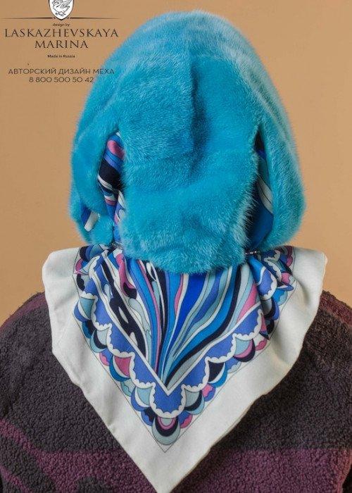 Павлопосадский платок с мехом