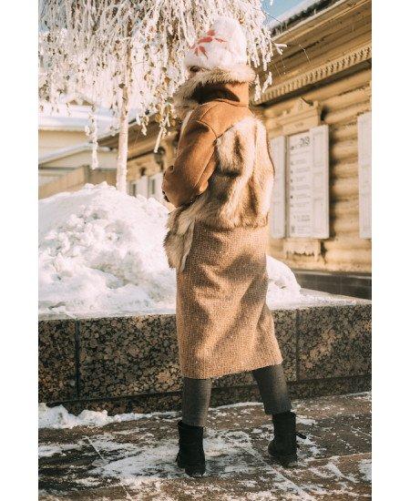 Пошив пальто с меховыми вставками