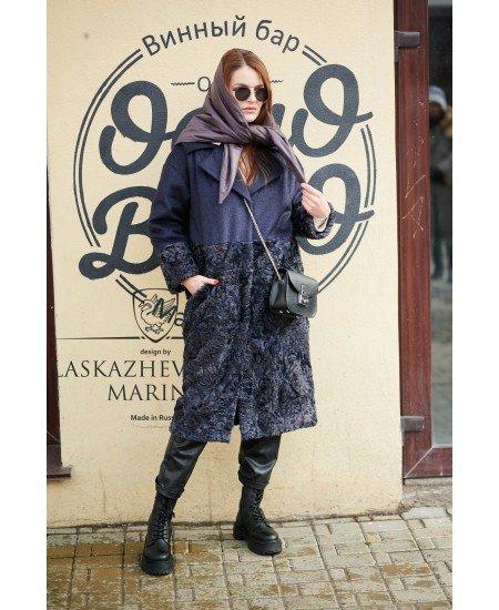Пальто из шерсти и каракуля