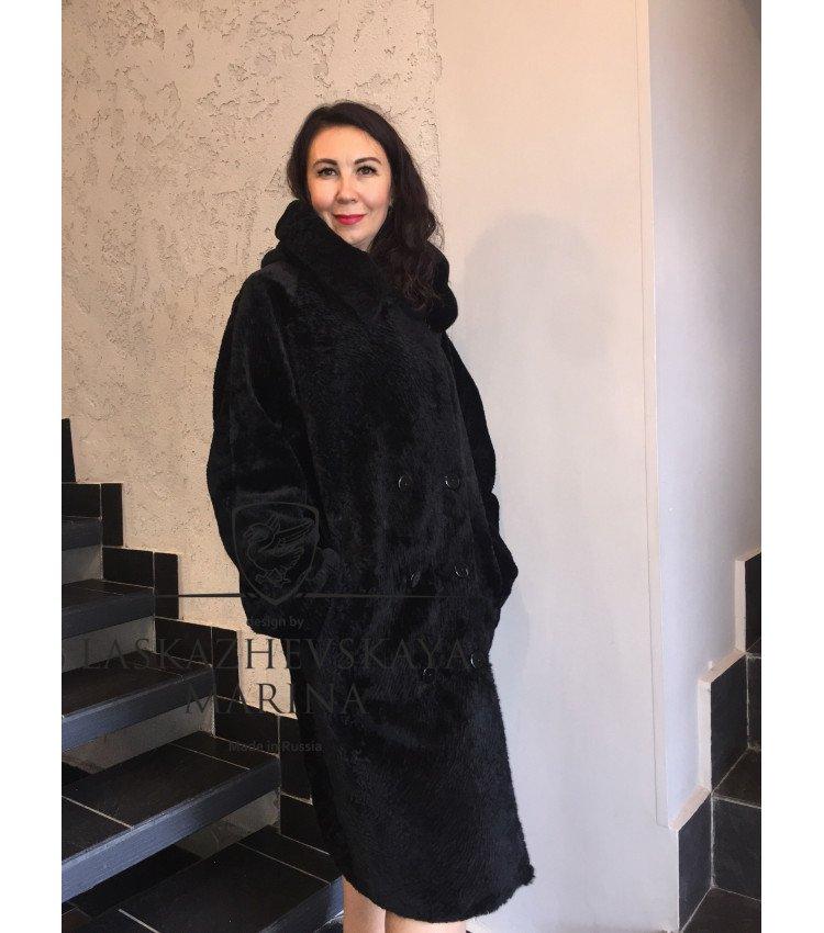 "Шуба тренчкот из овчины астраган ""Саманта"""