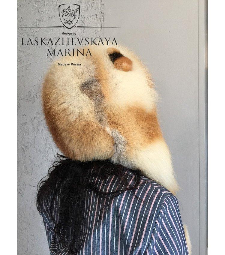 Шлемик из лисы с ушками