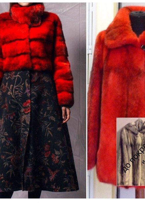 Модное пальто с драпом из старой норковой шубы