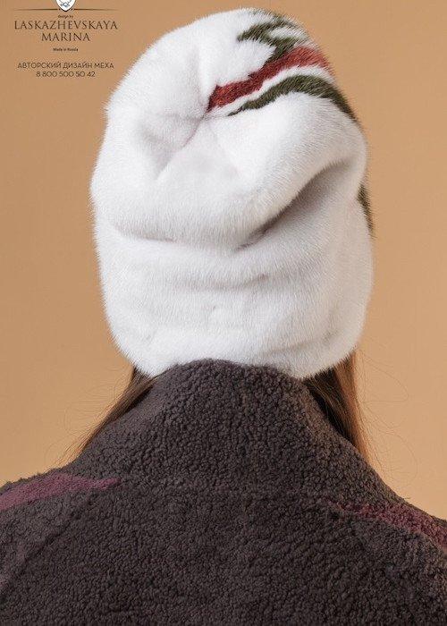 Колпачок высокий с цветным принтом